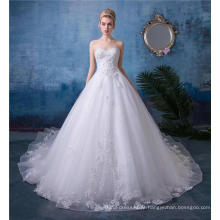 Vestido de noiva bordada frisada do querido Vestidos de noiva