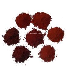 O pigmento vermelho do ferro do óxido tinge a cor do cimento