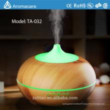 Diffuseur d'huile essentielle d'arome de 300ml, nouvelle brume fraîche ultrasonique en bois de grain