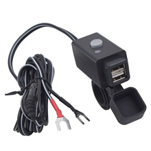 Adaptador de cargador de teléfono USB de motocicleta con interruptor de alimentación
