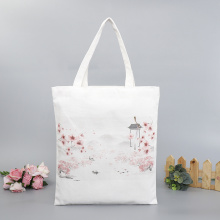 Cotton Canvas  Ink Painting Bag