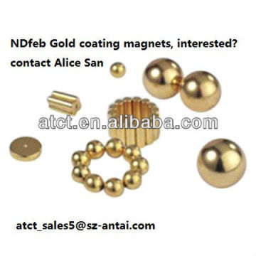 Seltene Erden Magnetiseur Goldbeschichtung Monopol Neodymmagneten, Magnetkugeln