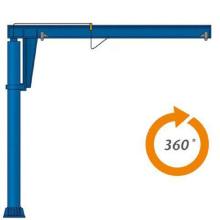 Grue rotative de type de pilier d'atelier rotatoire de 360 degrés