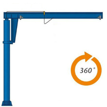 360 Degree Rotationary Workshop Pillar Type Jib Crane