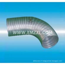 Conduit flexible de haute qualité semi-rigide en aluminium pour ventilation