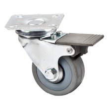Caster Shaft Rubber Tire Caster Light Duty Furniture Caster