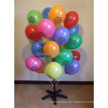 Freier Entwurfs-einfacher mehrschichtiger Spielwaren-Einzelverkaufsspeicher-schwarzer Metallboden-Ballon-Ausstellungsstandplatz