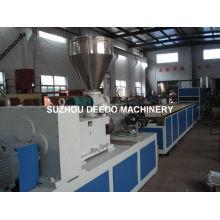 Máquina de extrusión PVC con perfil de plástico