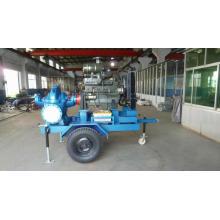 Riego agrícola motor Diesel portátil sistema de bomba de agua