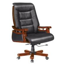 Bureau en bois en cuir véritable Bureau exécutif Chef directeur (HF-BLA95)