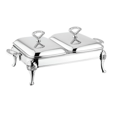 Double Rectangle Chafing Dish Buffet Catering