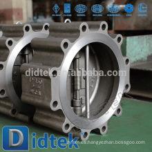 Didtek Luz y compacto de doble placa Lug Wafer válvula de retención