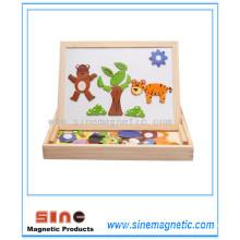 Животный магнетизм Jigsaw Двусторонняя доска Совет Игрушка Puzzle