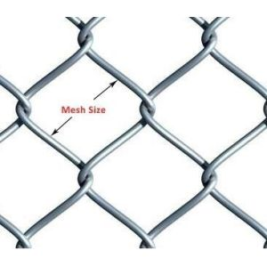 Chain Link Mesh Roll Fäktning Panel