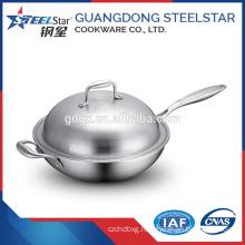 32cm China tableware multi-purpose stainless steel cooking wok