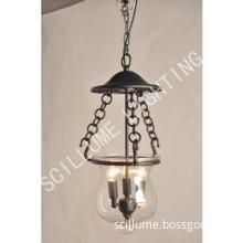 3-light Hundi Lantern glass pendant lamp #2056-3