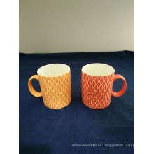 Taza de café gráfica de la porcelana de la escena
