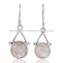 Natural Rainbow Moonstone Gemstone 925 Sterling Silver Earring