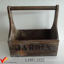 Pequeno Handmade madeira cesta país estilo