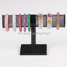 Nova mesa de madeira e metal Watch Store Display Racks, acessórios Retail Hair Bow Display Rack