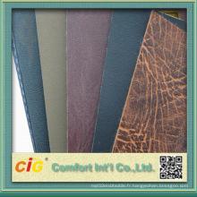 Stock de cuir en PVC de haute qualité