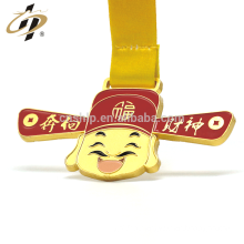Custom zinc alloy matte gold 3D enamel metal souvenir sports medal