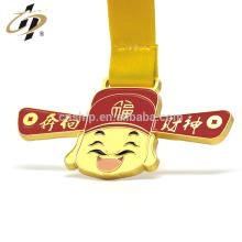 Personalizado liga de zinco de ouro fosco 3D esmalte lembrança de metal medalha de esportes
