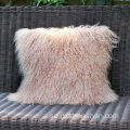 Custom Size Pink Lamb Fur Pillowcase Kuddeöverdrag