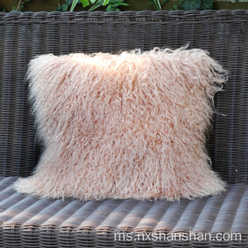 Saiz Khas Pink Lamb Fur Bantal Cushion Cover
