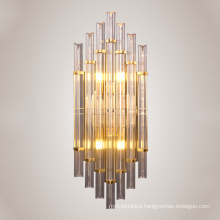 Modern E14 Indoor Designer Crystal Glass Wall Lamp For Living Room Lighting Decorative