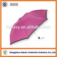 Fashion 3 Fold Mini Sun Umbrella
