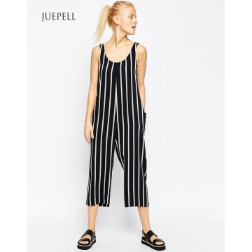 Adut Stripe Workout Minimal Jumpsuit Casual