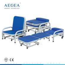 AG-AC003 medizinische zwei Funktion mit weichem Schaumstoff falten Attendant Stuhl begleiten