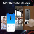Mobile phone Remote control fingerprint door lock