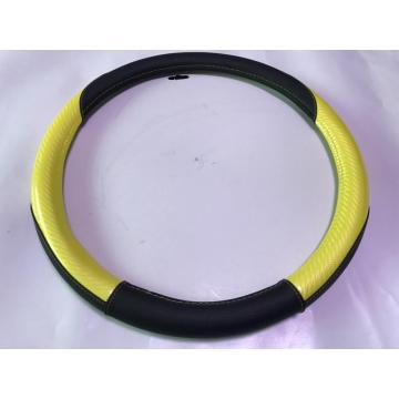 Durable 3-spoke PU car steering wheel cover