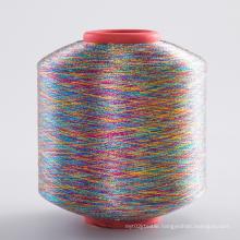 Colorful Soft reflect brilliant light MX Type Gold nylon mix Metallic Yarn For Knitting