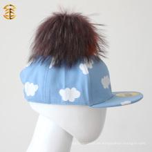 Gorra de béisbol infantil azul lindo del precio al por mayor de la fábrica para el cabrito