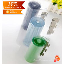 Transparent pvc strip rideau roll rideau coloré