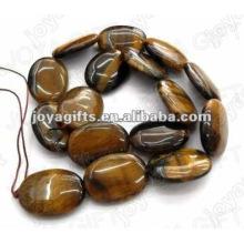 18x25MM Natural tigereye piedra plana cuentas ovales