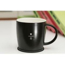 Coupe de thé ronde à la Chine Design avec tapis de tasse en porcelaine pour promotion
