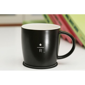 China Design Round Tea Cup with Cup Mat in Porcelain for Promotional
