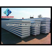 Color de aislamiento de acero panel de sándwich de techo para la casa Prefab