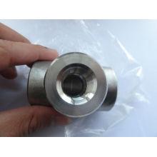 Raccord de soudage à emboîtement en acier inoxydable ASME B16.11 / Raccords forgés / Raccords haute pression / Té