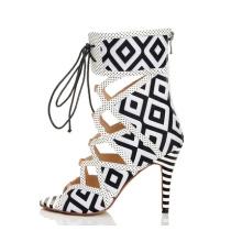 Zapatos de mujer de tacón alto estilo nuevo con diseño geométrico (HS07-35)