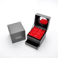 Caja de regalo doble florero del cajón de empaquetado de la flor con el espejo