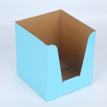 Blå Corrugated Display Packaging Paper Box