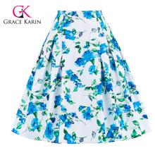 Grace Karin 10 Patterns Occident Women Vintage Retro Floral Pattern Cotton Skirt CL008925-1