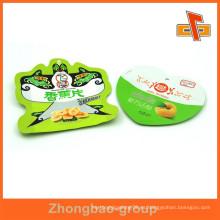 Caliente el sello libre de la muestra de plástico en forma de corazón bolsa de frijol para el envasado de frutas secas