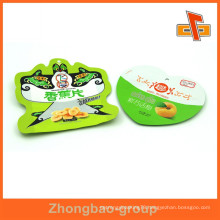 Heat seal free sample plastic heart shape bean bag for dry fruit packaging