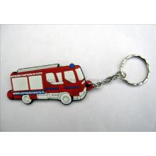 Kundenspezifische Gummi-Schlüsselkette mit Bus-Logo (KC-06)